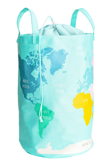 World map storage basket - Turquoise - Home All | H&M CN 1