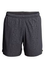 Running shorts - Black/Patterned -  | H&M 2