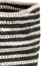 Jute storage basket - Black/Beige/Striped - Home All | H&M CN 2