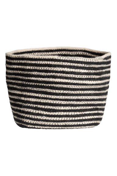 Jute storage basket - Black/Beige/Striped - Home All | H&M CN 1