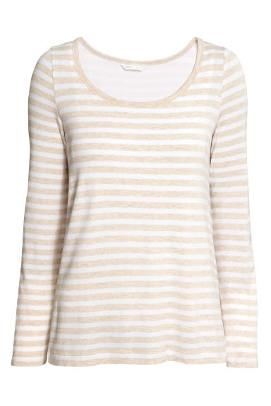 MAMA Nursing top - Light beige/Striped - Ladies | H&M