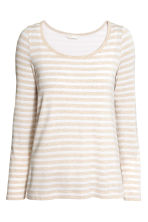MAMA Nursing top - Light beige/Striped - Ladies | H&M 1