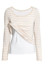 MAMA Top allattamento - Beige chiaro/righe - DONNA | H&M IT 2