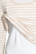 MAMA Nursing top - Light beige/Striped - Ladies | H&M 3