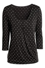 MAMA Nursing top - Black/Spotted - Ladies | H&M 2