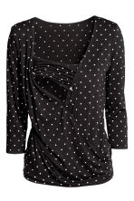 MAMA Nursing top - Black/Spotted - Ladies | H&M 3