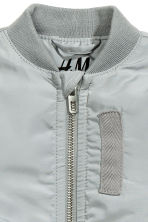 Padded bomber jacket - Grey - Kids | H&M CN 4