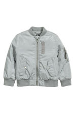 Padded bomber jacket - Grey - Kids | H&M CN 2