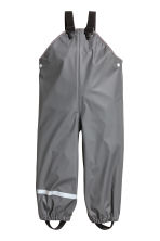 Rain trousers with braces - Dark grey - Kids | H&M 2