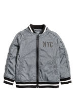 Bomber jacket - Dark grey/New York - Kids | H&M CN 2