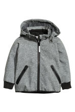 Softshell jacket - Dark grey marl -  | H&M CN 2