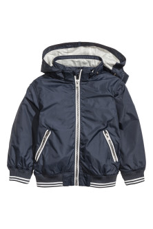 Jersey-lined nylon jacket