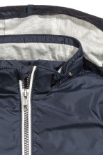 Jersey-lined nylon jacket - Dark blue - Kids | H&M CN 3