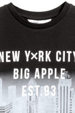 Printed sweatshirt - Black/New York - Kids | H&M 3