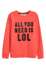 Printed sweatshirt - Dark orange - Kids | H&M CN 2