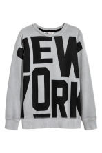 Sweat avec impression - Gris/New York - ENFANT | H&M FR 2