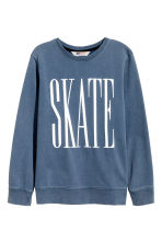 Printed sweatshirt - Blue - Kids | H&M 2