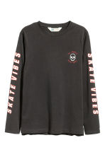 Long-sleeved T-shirt - Black/Los Angeles - Kids | H&M 2