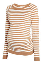 MAMA Knitted jumper - Beige/White/Striped - Ladies | H&M CN 2
