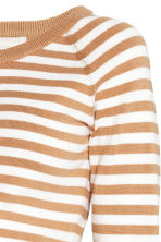 MAMA Knitted jumper - Beige/White/Striped - Ladies | H&M CN 3