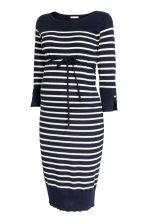 MAMA Fine-knit dress - Dark blue/Striped - Ladies | H&M 2