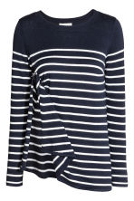 MAMA Nursing jumper - Dark blue/Striped - Ladies | H&M 3