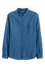 Premium cotton denim shirt - Denim blue - Men | H&M CN 2
