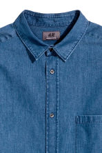 Premium cotton denim shirt - Denim blue - Men | H&M 3