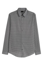 Patterned shirt Slim fit - White/Black - Men | H&M 2