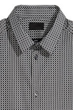 Patterned shirt Slim fit - White/Black - Men | H&M 3