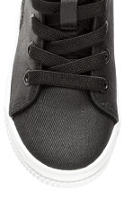 Waxed trainers - Black - Kids | H&M 4