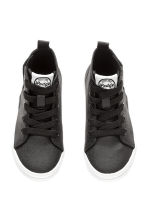 Waxed trainers - Black - Kids | H&M 3