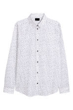 Patterned cotton shirt - White/Black - Men | H&M CN 2