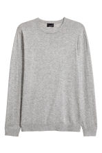 Premium cotton jumper - Grey marl - Men | H&M 2
