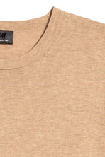 Premium cotton jumper - Beige marl - Men | H&M CN 3
