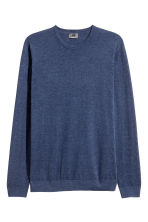Premium cotton jumper - Navy marl - Men | H&M 2