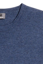 Premium cotton jumper - Navy marl - Men | H&M 3