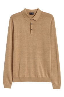 Long-sleeved silk-blend jumper