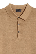 Long-sleeved silk-blend jumper - Dark beige marl - Men | H&M CN 3