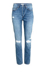 Relaxed High Jeans - Denim blue trashed - Ladies | H&M 2