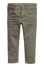 Stretch trousers Slim fit - Khaki green -  | H&M CN 2