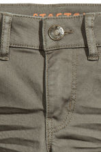 Stretch trousers Slim fit - Khaki green -  | H&M CN 3