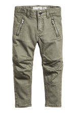 Shaped leg trousers - Light khaki green - Kids | H&M 2