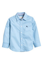 Cotton shirt - Light blue - Kids | H&M CA 2