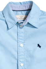 Cotton shirt - Light blue - Kids | H&M CA 4