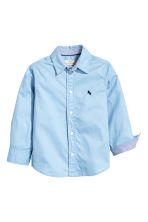 Cotton shirt - Light blue - Kids | H&M CA 3