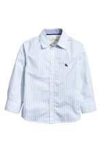 Cotton shirt - Light blue/Striped - Kids | H&M 2