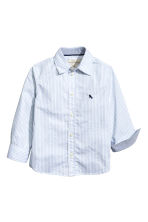 Cotton shirt - Light blue/Striped - Kids | H&M 3