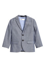 Textured-weave blazer - Dark blue marl - Kids | H&M CN 2