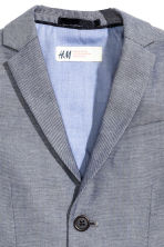 Textured-weave blazer - Dark blue marl - Kids | H&M CN 3